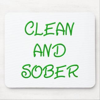 Clean and Sober Mouse Pad