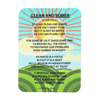 CLEAN AND SOBER FLEXIBLE MAGNETS