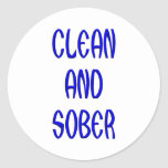CLEAN AND SOBER STICKERS