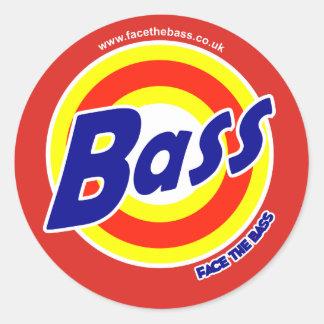 Clean Bass Power Round Stickers