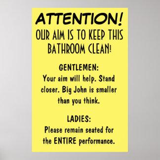 Clean Bathroom. Poster
