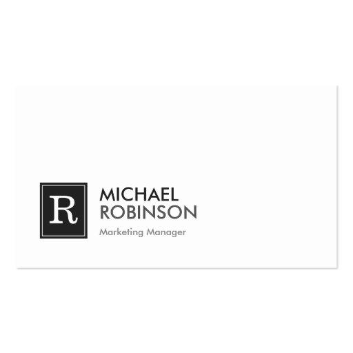 Clean Black White Modern Monogram Business Card Templates