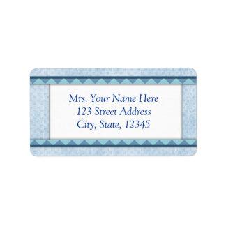 Clean Blue Address Lables Label