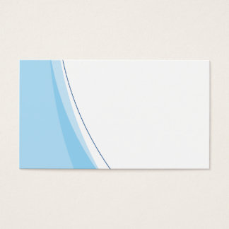 Clean Blue and White Swoosh Layout business card