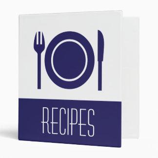 Clean Blue - Recipes Binder