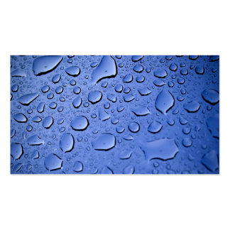 Clean Blue Water Droplets Business Card