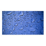 Clean Blue Water Droplets Business Card Template