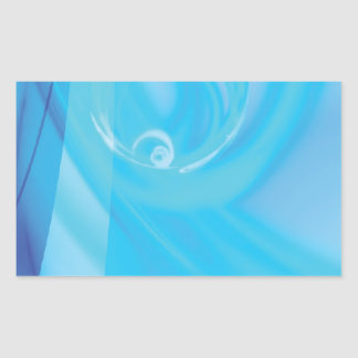 clean blue water layout textured rectangular sticker