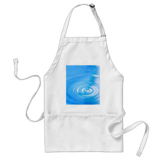 Clean blue water ripples adult apron