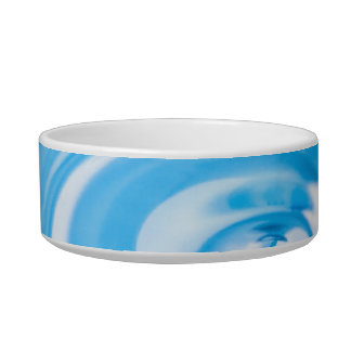 Clean blue water ripples bowl