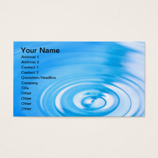 Clean blue water ripples business card