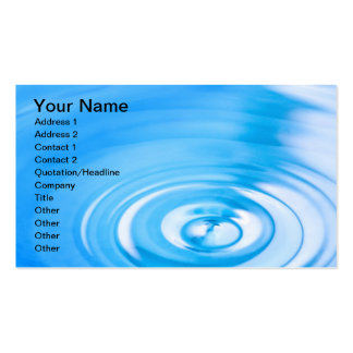 Clean blue water ripples business card templates