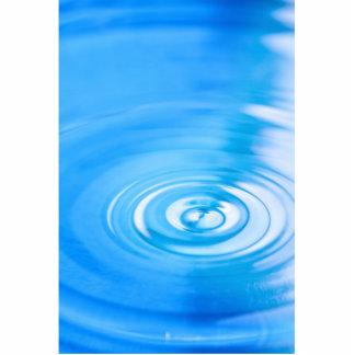 Clean blue water ripples cutout