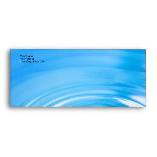 Clean blue water ripples envelope