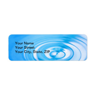 Clean blue water ripples return address label