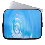 Clean blue water ripples laptop computer sleeve