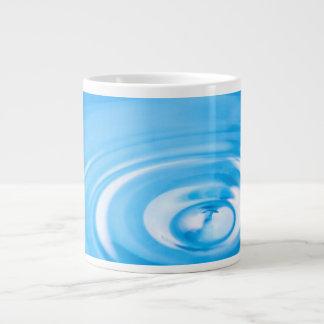 Clean blue water ripples large coffee mug