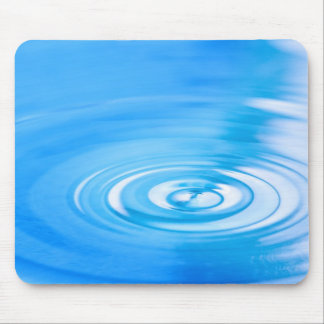 Clean blue water ripples mouse pad