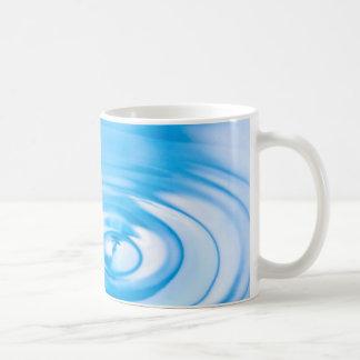 Clean blue water ripples mug