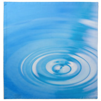 Clean blue water ripples napkin
