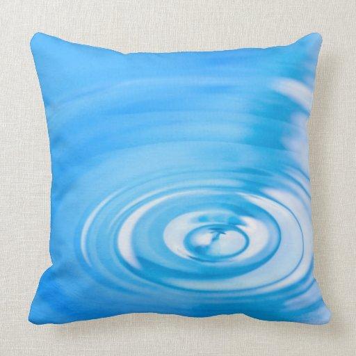 Cleaning Down Throw Pillows : Clean blue water ripples throw pillows Zazzle