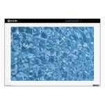 """Clean blue waves 17"""" laptop decal"""