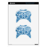 Clean blue waves xbox 360 controller decal
