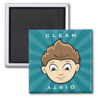 Clean Boy   Dirty Old Man Dishwasher Magnet