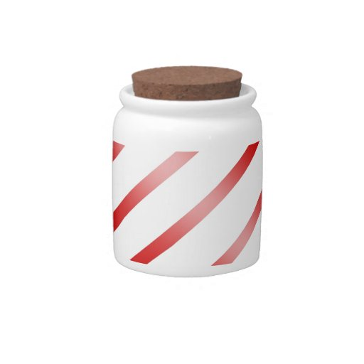 Clean Candy Cane Candy Dish