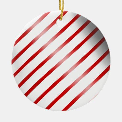 Clean Candy Cane Ceramic Ornament