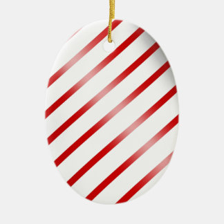 Clean Candy Cane Ceramic Ornament