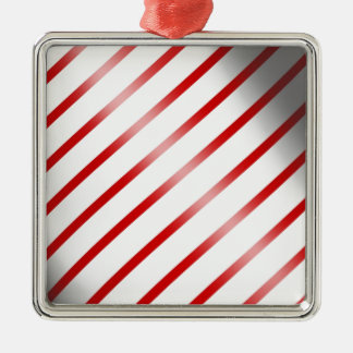 Clean Candy Cane Metal Ornament