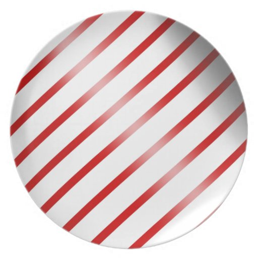 Clean candy cane dinner plates