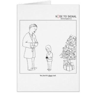 Clean coal holiday card
