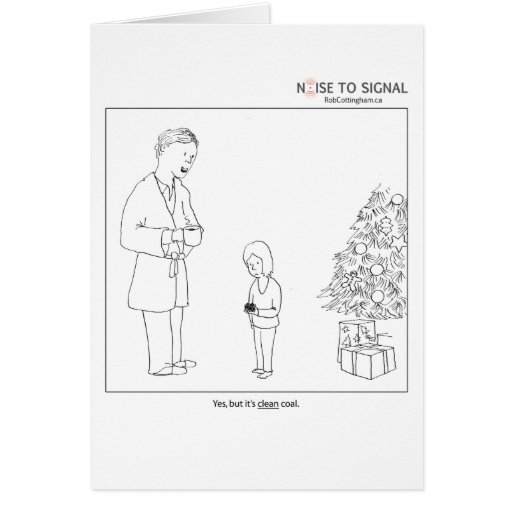 """Clean"" coal holiday card"