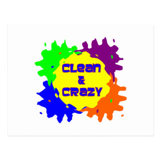 Clean & Crazy Postcard