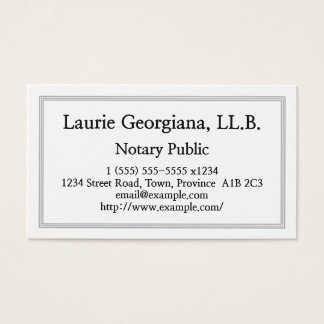 Clean & Customizable Notary Public Business Card