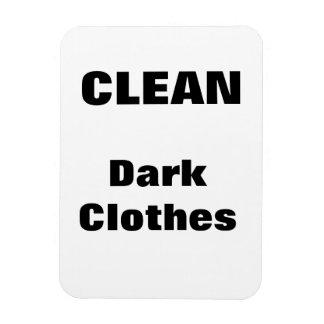 Clean - Dark Clothes Rectangular Photo Magnet