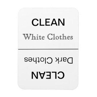 Clean - Dark(dark text)/White Clothes Rectangular Photo Magnet