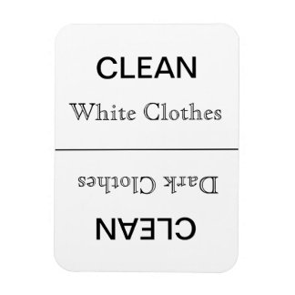 Clean - Dark/White Clothes Rectangular Photo Magnet