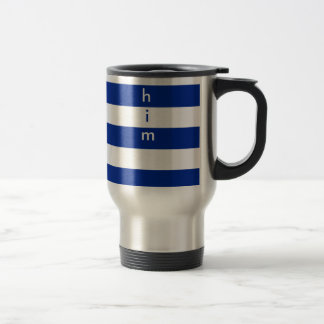 Clean design stripes pattern for him 15 oz stainless steel travel mug