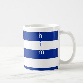 Clean design stripes pattern for him classic white coffee mug