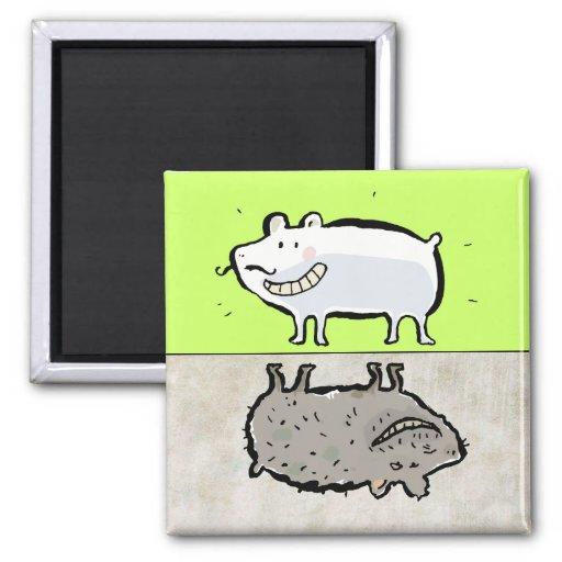 clean / dirty animals (dishwasher) magnet