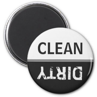 Clean Dirty Black and White Dishwasher 2 Inch Round Magnet