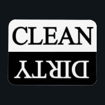 """Clean dirty black dishwasher magnet<br><div class=""""desc"""">A useful magnet that can be used for dishwashers in your kitchen !</div>"""