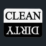 "Clean dirty black dishwasher magnet<br><div class=""desc"">A useful magnet that can be used for dishwashers in your kitchen !</div>"