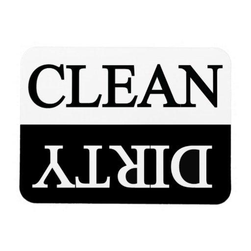 Clean dirty black dishwasher Rectangular Photo Magnet