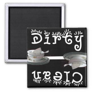 Clean / Dirty (Black) Magnet