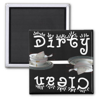 Clean / Dirty (Black) Refrigerator Magnet