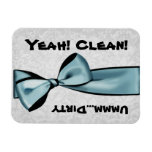 Clean Dirty Blue Bow Dishwasher Flexi Magnet